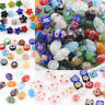 20-50Pcs Mixed Shape Millefiori Glass Craft Beads Multi-Color Loose Spacer Bead
