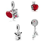 Pandora Sterling Silver S925 ALE Disney Pendant Charm Dangle Bead Bunny Minnie