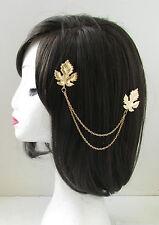 Feuille d'or chaînes de cheveux clips headpiece vintage 1920 Grecian tambour romain U19