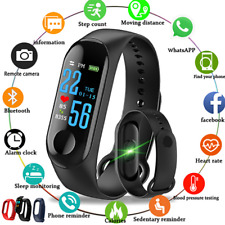 Bluetooth Smart Watch Heart Rate Monitor Phone Mate For Android  iPhone Samsung