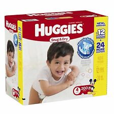 HUGGIES Snug & Dry Size 4 Diapers with Snug Fit Waistband  200 Count