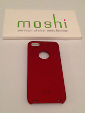 Moshi Apple iPhone 5 5S Hard Case Back Cover Edel Schutzhülle Farbe:Bordeux/rot