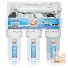 AQUASAFE AS5000 Wasserfilter 5-Stufige Umkehrosmose mit Druckerhöhungspumpe