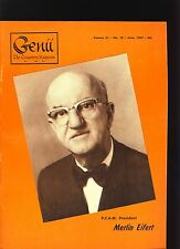 Merlin Eifert Pcam Genii Magicians Magazine June 1967-table of contents scanned