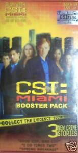 CSI MIAMI BOOSTER PACK FOR THE BOARD GAME