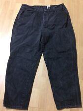 Used Size 22W Short Gitano Jeanswear Black Denim Jeans Pants