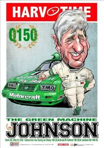 HARV TIME DICK JOHNSON THE GREEN MACHINE POSTER LIMITED EDITION