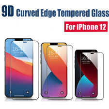 1-2Pack For iPhone 12 pro Max Mini 9D Tempered Glass Film Screen Protector Cover