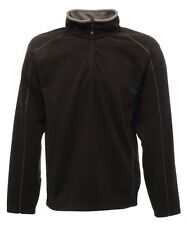 Regatta Ashville Half Zip Mens Fleece in Black/Smokey size M