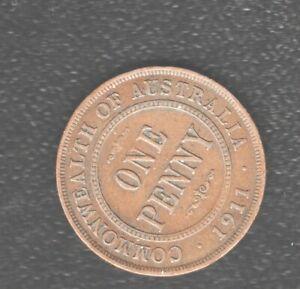 AUSTRALIA   PENNY 1911 BRONZE