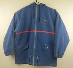 Vintage Ripcurl Men's Blue Zip Up Jacket - Size M