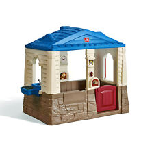 Neat & Tidy Cottage II Playhouse Children Toy Backyard Outdoor Play Pretend Blue
