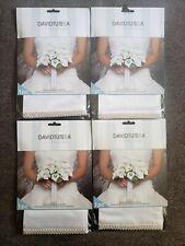 David Tutera Rhinestone Bouquet Wrap Lot of 4 Bride Quinceanera White
