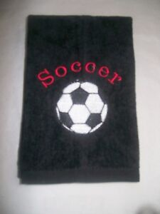 Personalized embroidered Soccer towel ,soccer team towels, soccer gift, message