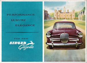 THE NEW SINGER GAZELLE , PERFORMANCE, LUXURY, ELEGANCE BROCHURE, REF.533/H.