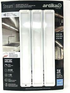 Artika Stream LED Under Cabinet 3 Light Set Motion Sensor 1350 Lumens 4000 K