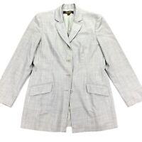 VTG Brooks Brothers Women's 4-Button Wool Stretch Blazer Gray • Size 12