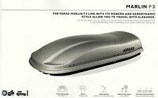 Box auto portabagagli FARAD MARLIN nero opaco baule tetto universale 480 lt