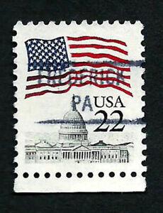 USA, SCOTT #2114, USA FLAG USED RARE PRECANCEL FREDERICK, PA IN GOOD CONDITION