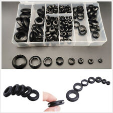 200 Pcs 8 Size Car Truck Assortment Grommet Electrical Wire Black Rubber Gaskets