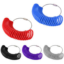 Finger Ring Sizer Gauge Measure All Sizes A-Z Plastic 27Pc Reuseble Jewelry Tool