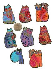 LAUREL BURCH CAT FABRIC APPLIQUES - 8 PCS.