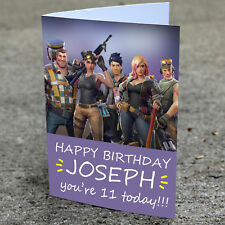 FORTNITE Personalised Birthday Card | Boys Friend Girls Ps4 XBOX Brother Son