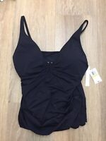 womens rod beattie bleu tankini swim suit top black RBAU20469