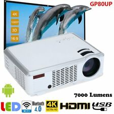 7000 Lumens Android WiFi Bluetooth 4K HD 1080P 3D LED Home Theater Projector HM