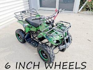 49CC MINI FARM QUAD BIKE ATV BUGGY KIDS 4 WHEELER POCKET PIT DIRT BIKE GREEN