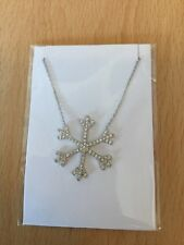 Sterling Silvr 925 Large Snowflake Necklace
