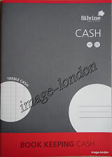 SILVINE BOOK KEEPING A4 TREBLE CASH BOOK PAD 32 PAGE CASH BOOKKEEPING SJA4C
