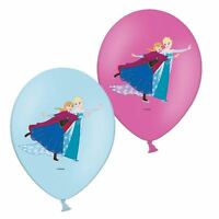 "Disney Frozen Colour Print 11"" Latex Balloons 6pk - Elsa Anna Birthday Party"