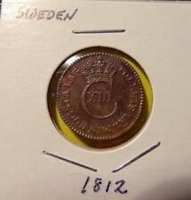 1812 Sweden  1/12 Skilling 1812 Carl XIII KM#584