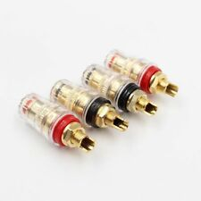 20Pcs 24K Gold Plated Brass Speaker Power Amplifier Terminals Connectors Jack
