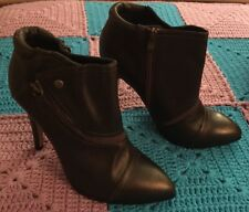 Heart Soul Ankle Heel Boots Booties - Brown, Size 11...BRAND NEW!!