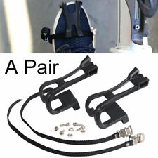 1Pair Road Bike Pedal Toe Clips with Straps Cycling Bicycle Fixie Bike Accessory
