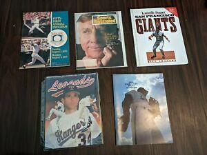Lot of (5) 1990s baseball Books/Magazines/Programs