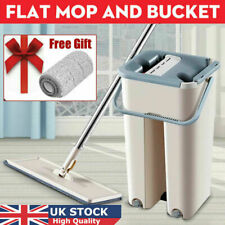 Magic Cleaning Mop, Flat Squeeze Mop Home Kitchen Hard Floor Cleaning + 2 Pads