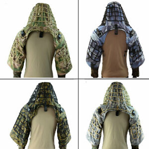 Tactical Ghillie Suit Multicam Airsoft Camouflage Hunting Sniper Ghillie Coat