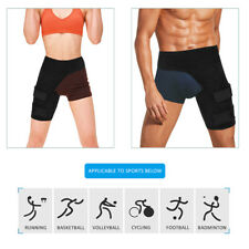 X1 Black Groin Pain Relief Thigh Support Strain Brace Wrap Sprains Hip Outdoor