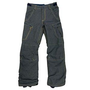 Burton Denim Snowboarding Pants Big Kid Youth Size XL Waterproof Nylon Lining