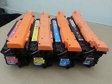 Ensemble complet toner pour HP CP3525 / CP3525 / cm3520 / cm 3520 / ce250a-ce253a / hp504a / HP 504A