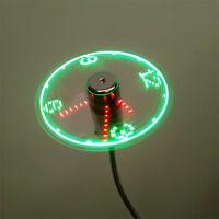 USB mini flexible Time LED ventilateur avec des gadgets légers LED