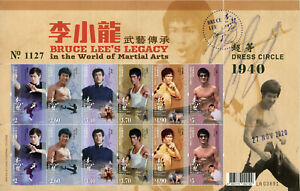Hong Kong Famous People Stamps 2020 MNH Bruce Lee Martial Arts Actors 12v M/S