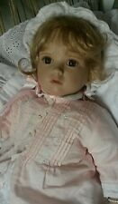 """Elke Hutchens Baby Shirley Temple Retired 19"""" Weighted DOLL 2007 RARE w/blanket"""