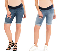 Great Expectations Stretch Maternity Denim Bermuda Shorts