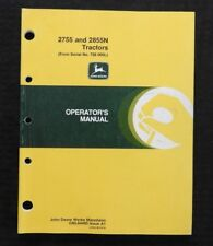John Deere 2755 2855N Tractor Operators Manual After Serial #728000