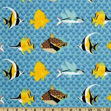 """2 1/4 yards """"Pacific Reef"""" Fish in the Ocean 100% Cotton Fabric- 44"""" wide"""