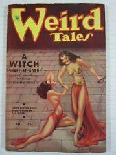 Weird Tales December 1934, Rare High Grade  Robert Howard  A Witch Shall Be Born